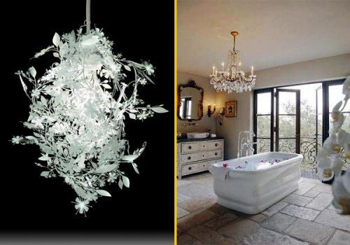 Anche in bagno lampadari da favola comprati per loccasione o recuperati architettura e design - Bagno da favola ...