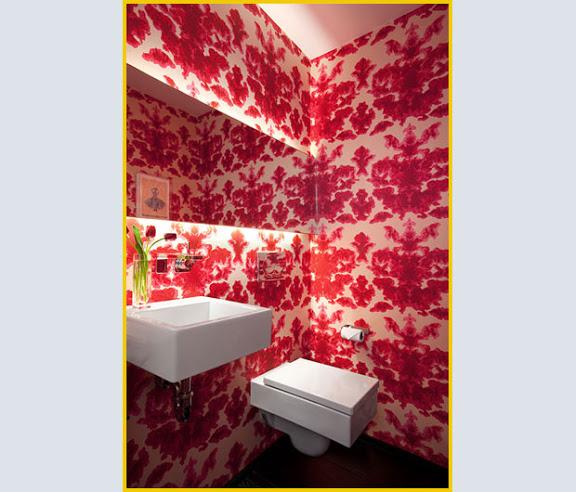 capps house carta da parati per il bagno progettata dallo studio texano poteet architects