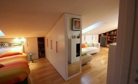 Mansarda mon amour architettura e design a roma - Camera da letto in mansarda ...