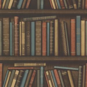.amazon carta da parati di bhf motivo libri antichi