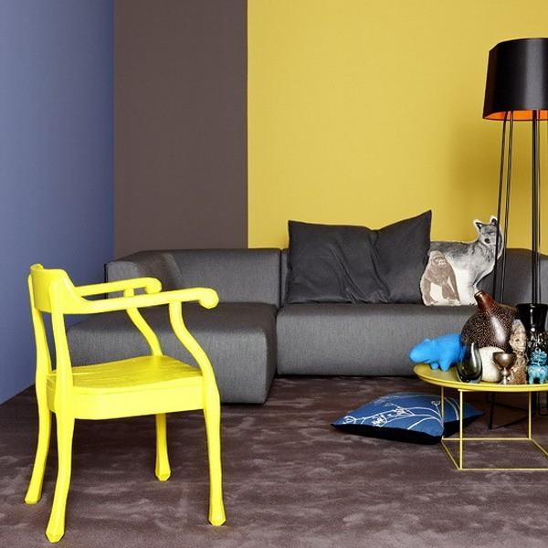 Parete Bordeaux E Gialla : Pareti gialle camera da letto con n with