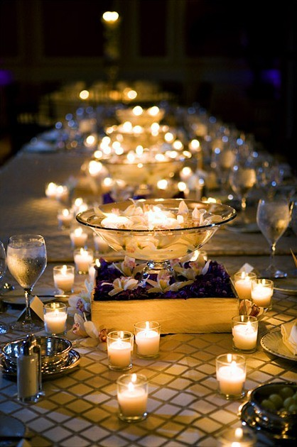 buffet a lume di candela