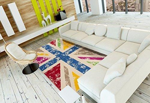 .amazon bellissimo il tappeto multicolor effetto vintage raffigurante la bandiera inglese