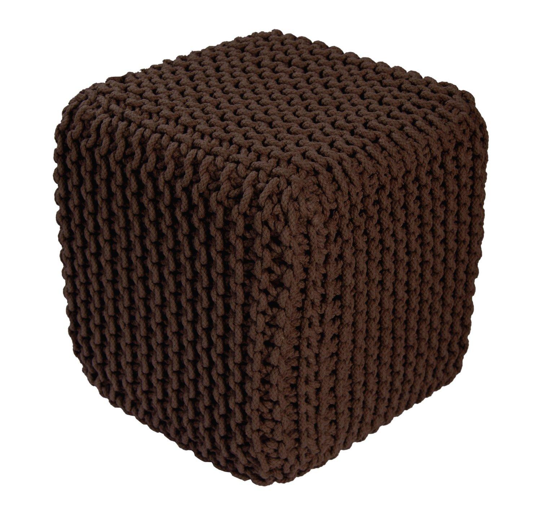 .amazon pouf cotone intrecciato a mano