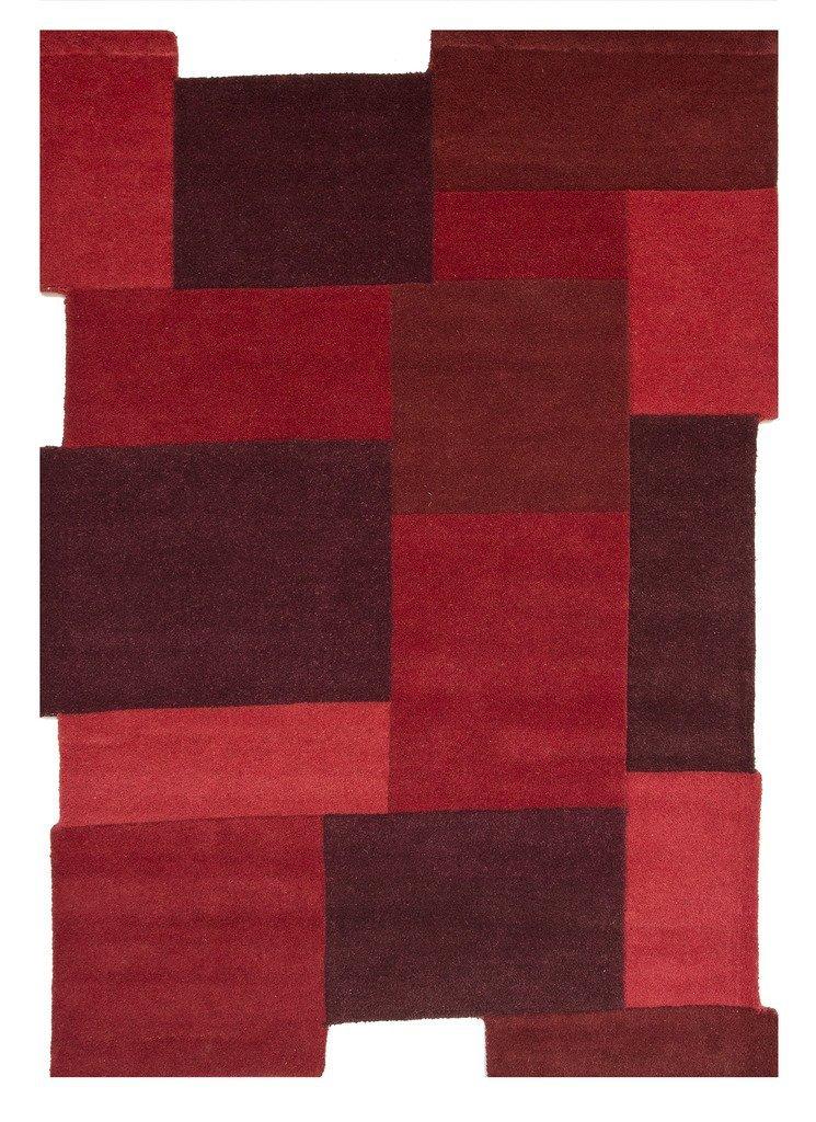 .amzon tappeto lana rosso