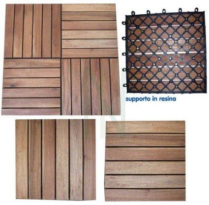 .amazon pavimento a quadrotti in legno con supporto in resina per balconi