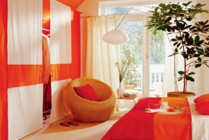 aaaorange-white-attic-bedroom-design-idea-1