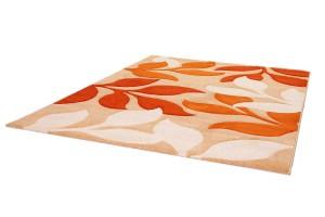 .amazon 81.90 TAPPETO MONDO SONA-LUX Moderno design Tappeto fatti a mano arancione 80 x 150 cm