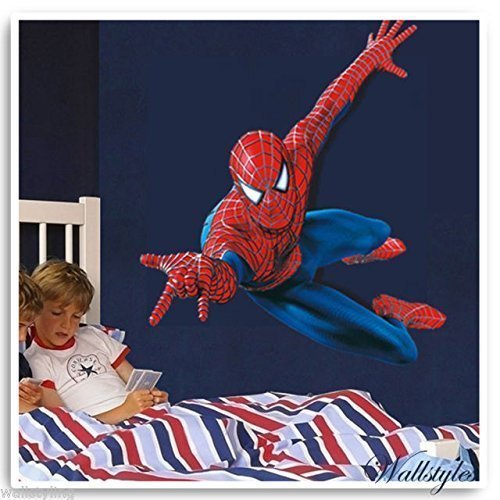 amazon-amazing-spiderman-kids-wall-sticker-vinyl-large-art-decal-perfect-as-a-gift-by-tellmeo