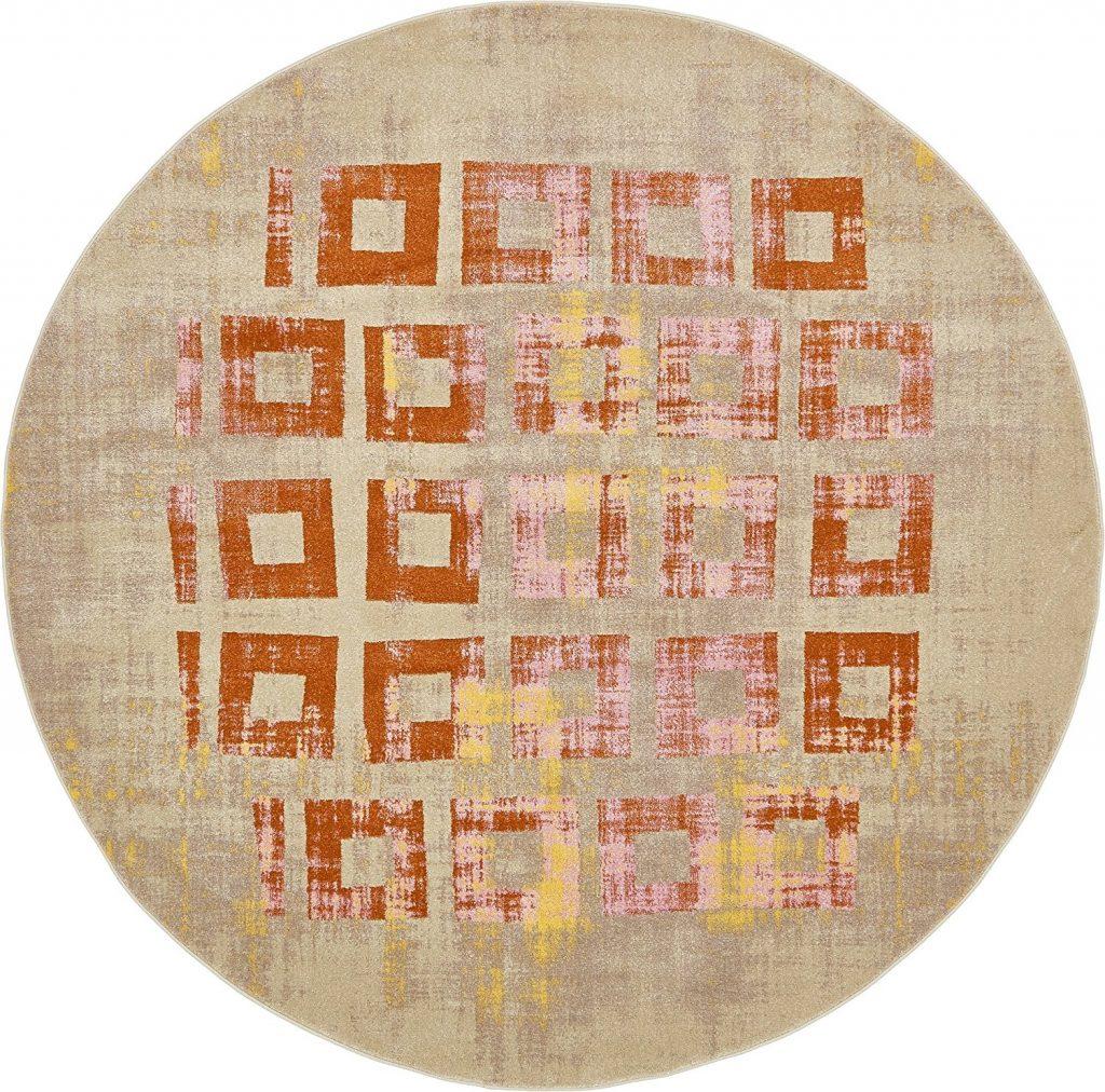 amazon-moderna-astratta-rotolo-di-carta-da-regalo-rotolo-dimensioni-arancione-tappeto-moderno-rotondo