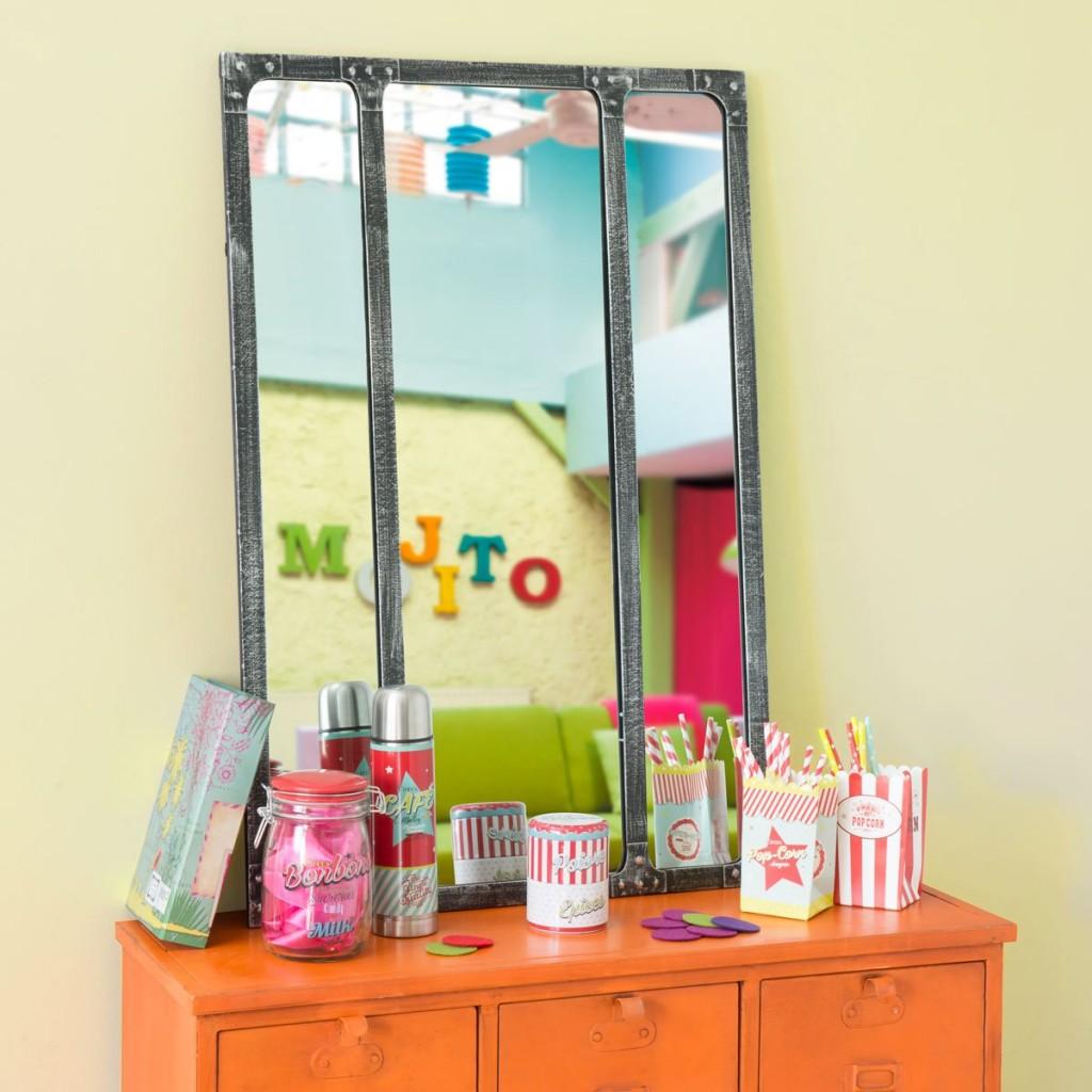 bimbi specchio industriale per la cameretta delle bambine 99.90 maison du monde
