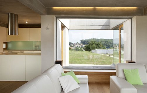 cemento a vista soffitto