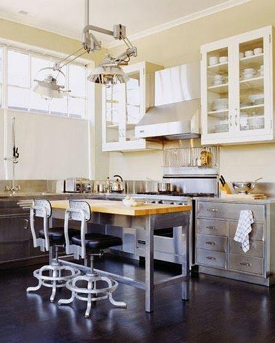 cucina interno cucina contrasto pensili shabby basi industriali