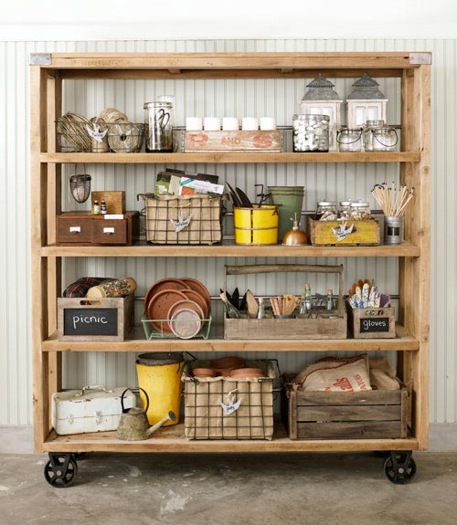 cucina scaffale rotelle