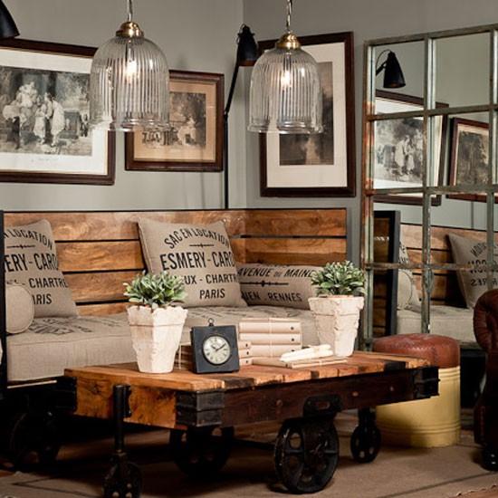 living room pallet vintage
