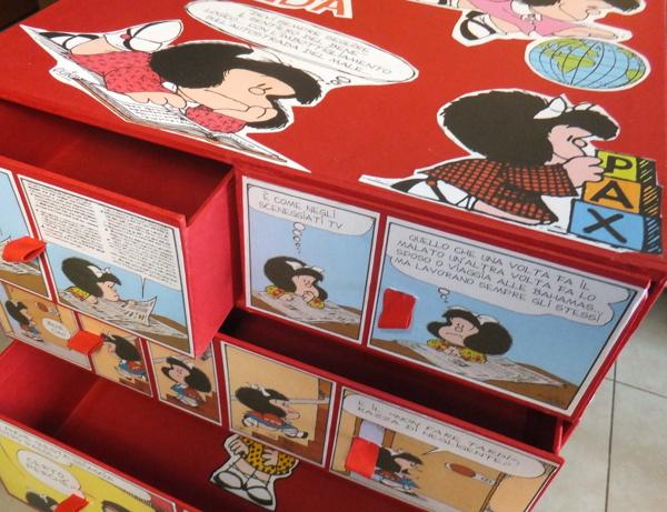 mafalda cassettiera disegnata progettata e montata a mano da mauro silani e mar mejia