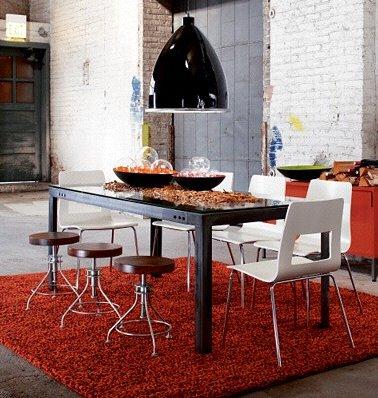 pranzo mattoncini sedie sgabelli industrial mix