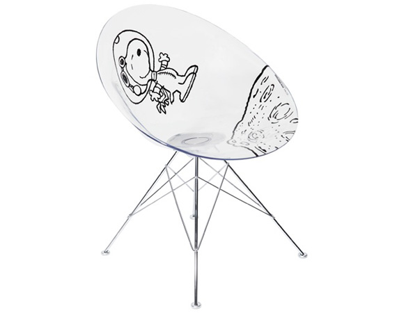 snoopy black-peanuts-kartell-astronaut-snoopy-eros-chair-philippe-starck-00