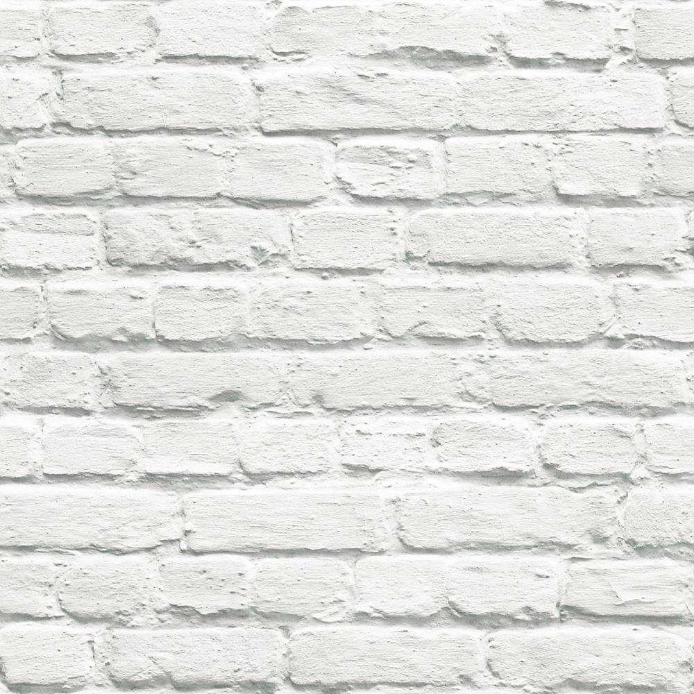 Amazon carta da parati bianca mattoncini architettura e for Carta da parati bianca