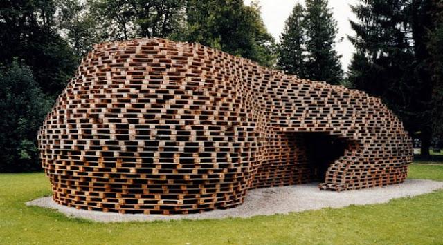 architettura Palettenpavillon by Matthias Loebermann 1
