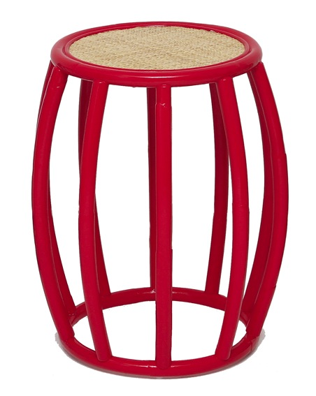 bongo side table in red alert lincoln brooks