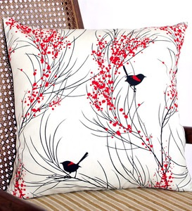 red backed & wattle cushion by formosa formosadesign.bigcartel.com