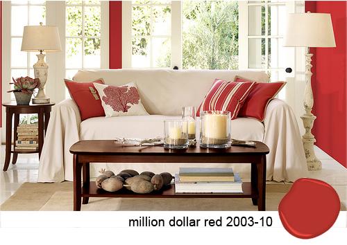 salotto bianco e rosso