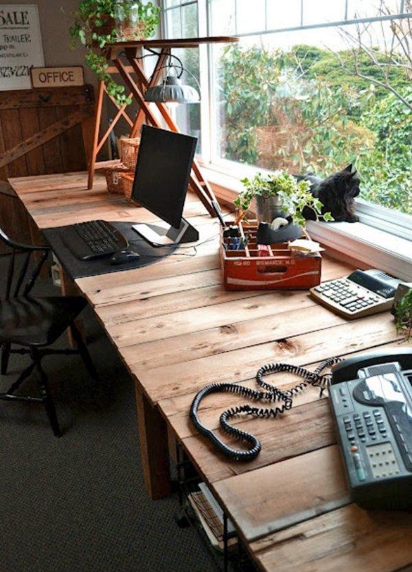 ufficio pallet desk funkyjunk