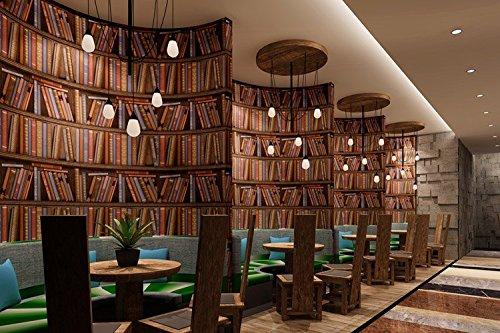 .amazon LXPAGTZ Carta da parati retrò libri americani camera da letto europea den soggiorno parete café ristorante ristorante tappezzeria lungo a38-0502 diversi colori