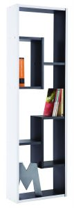 .amazon di demeyer bicolore bw Shelf Graphite 521 - Libreria a 5 scompartimenti p