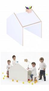 .bimbi Tavolo da disegno - Deskhouse Designer Alberto Marcos poer ninetonine 254.00 e. non solo una casetta per giocare ma anche una scrivania per studiare e colorare