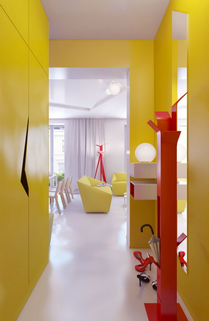 colore Yellow-Hallway-Decor-with-Large-Mirror-Ideas-1024x1570