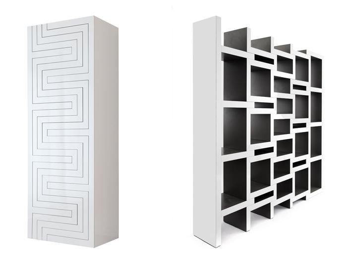 design libreria reinier de jong e abet laminati hanno realizzato il restyling della famosa libreria modulare REK che si adatta ad ogni parete allungandosi fino a 2.28 m