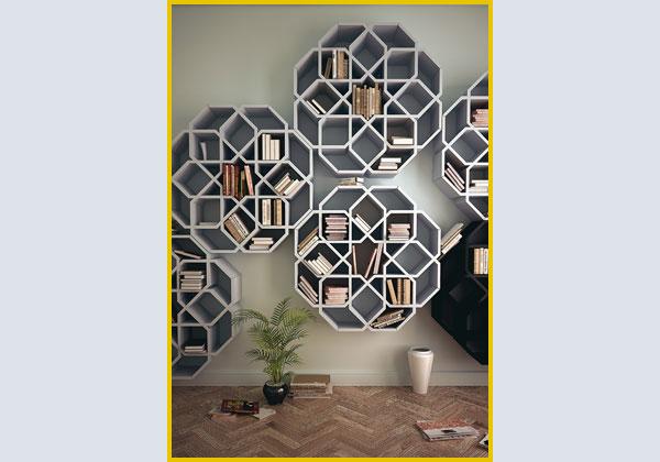 design libreria zelli e minizelli ispirate ai mosaici zellige che ornavano la casa di bammbino del designer marocchino younes duret