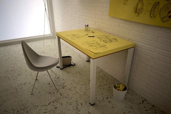 .divertente tavolo-post-it di soup design
