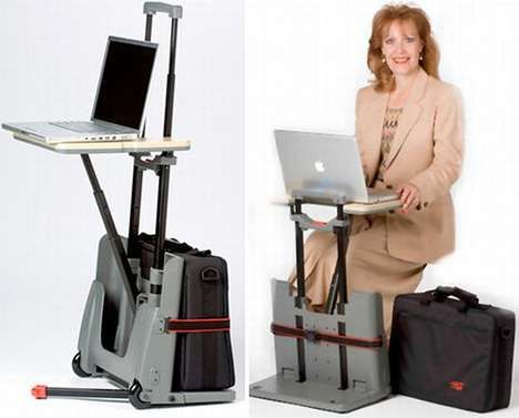 .il trolley diventa una scrivania CartDesk del Designer Andrew Liszewski