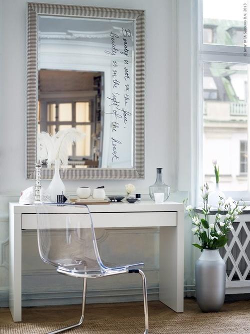 .moderno ed elegante angolo studio in bianco