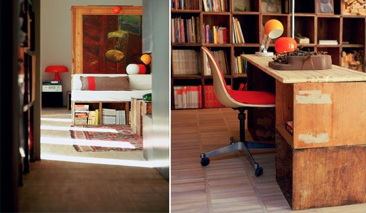 .riuso con vecchie scatole per una scrivania moderna