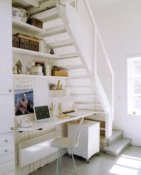 home office per tutti i gusti! - architettura e design a roma - Creare Angolo Studio In Soggiorno 2