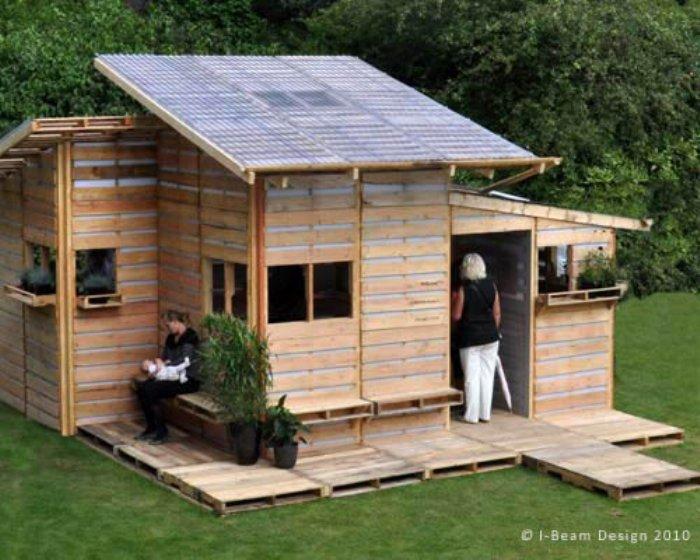 zarchitettura Il prototipo di casa Pallet è stato progettato da I-Beam Design è stato descritto in Giardini Reali della SAR