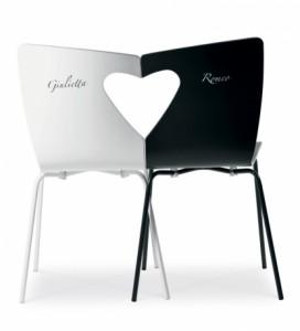 aaaSTUDIO BORELLA PER MIDJ Sedie Giulietta e Romeo con strutture a incastro 250,70 euro su sediarreda.com