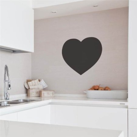 .amazon Cuore lavagna Wall Sticker - Grande 576 x 553 mm