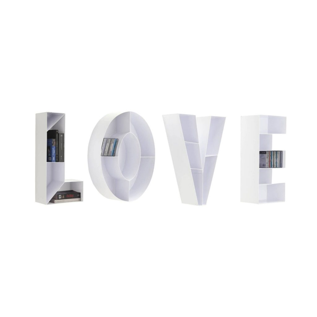 .amazon Tomasucci Love libreria da muro porta cd in metallo bianco 540.00