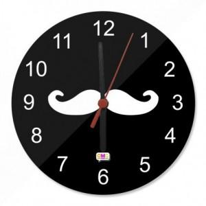 .amazon di roberto curci Orologio 20 cm in Vetro Baffi Hipster Moustache