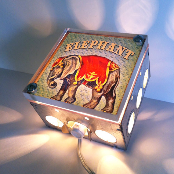 animali Elephant Nursery Night Light by The Rekindled Page eclectic-children-lighting