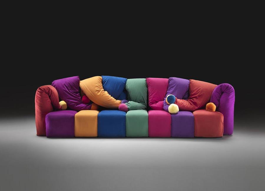 clown divano giullare di Meritalia