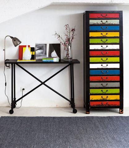 colori armadietto Bilbao di Maison du Monde con 15 cassetti multicolori