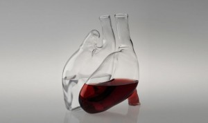 cuore decanter e caraffa by liviana osti