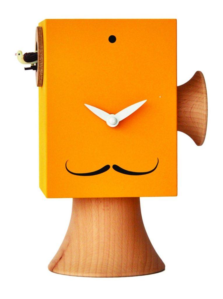 fantastico questo orologio a cucù di Orologi Italiani color Giallo Melone ispirato a salvador Dalì