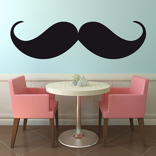 stickers Vinyl-Wall-Decal-Mustache-Wall-Decal-Menu-New-products-for-2013-mural-wallpaper-for-home-wall